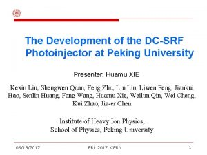 The Development of the DCSRF Photoinjector at Peking
