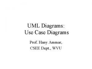 UML Diagrams Use Case Diagrams Prof Hany Ammar