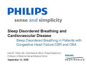 Sleep Disordered Breathing and Cardiovascular Disease Sleep Disordered