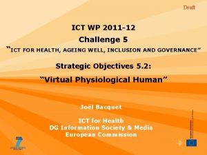 Draft ICT WP 2011 12 Challenge 5 ICT