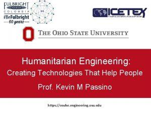 Humanitarian Engineering Creating Technologies That Help People Prof