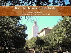Rx A Dose of Positivity Mary Steinhardt The