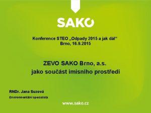 Konference STEO Odpady 2015 a jak dl Brno