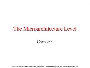The Microarchitecture Level Chapter 4 Tanenbaum Structured Computer