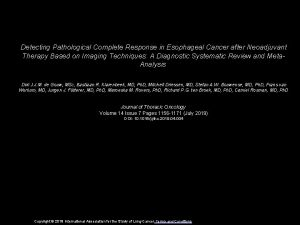 Detecting Pathological Complete Response in Esophageal Cancer after