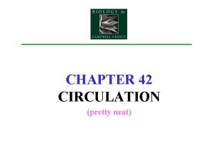 CHAPTER 42 CIRCULATION pretty neat Introduction Exchange Issues