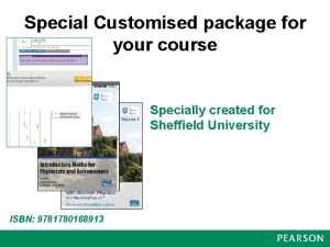 Special Customised package for your course Specially created