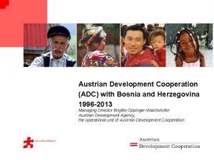 Austrian Development Cooperation ADC with Bosnia and Herzegovina