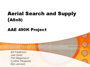 Aerial Search and Supply ASn S AAE 490