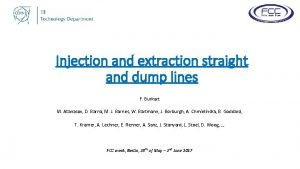 Injection and extraction straight and dump lines F