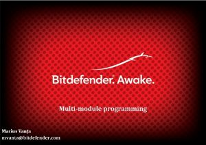 Multimodule programming mvantabitdefender com 1 Modular Architectures Copyright