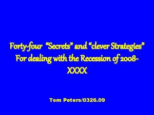 Fortyfour Secrets and clever Strategies For dealing with