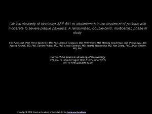 Clinical similarity of biosimilar ABP 501 to adalimumab