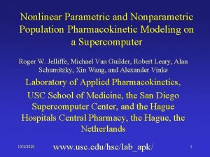 Nonlinear Parametric and Nonparametric Population Pharmacokinetic Modeling on