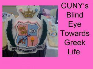 CUNYs Blind Eye Towards Greek Life The Greek