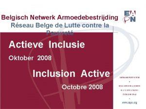 Belgisch Netwerk Armoedebestrijding Rseau Belge de Lutte contre