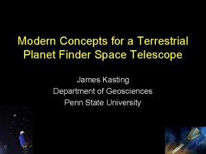 Modern Concepts for a Terrestrial Planet Finder Space