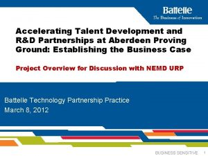 Accelerating Talent Development and RD Partnerships at Aberdeen