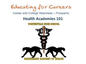 Health Academies 101 Presenters Dr Kevin Elling Lead