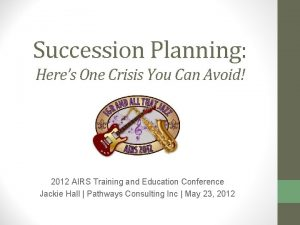 Succession Planning Heres One Crisis You Can Avoid