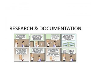 RESEARCH DOCUMENTATION Research Documentation A research paper blends