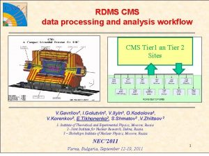 RDMS CMS data processing and analysis workflow CMS