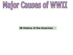 IB History of the Americas Treaty of Versailles