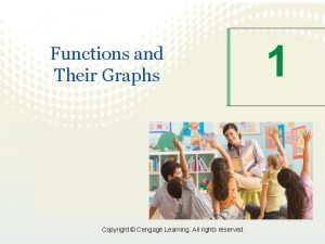 Functions and Their Graphs Copyright Cengage Learning All