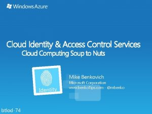 Cloud Identity Access Control Services Cloud Computing Soup