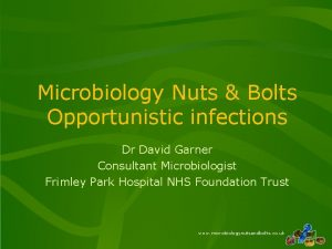 Microbiology Nuts Bolts Opportunistic infections Dr David Garner