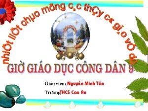 Gio vin Nguyn Minh Tn Tr ng THCS