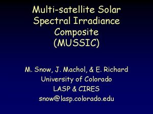 Multisatellite Solar Spectral Irradiance Composite MUSSIC M Snow