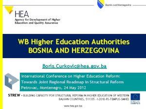 Bosnia and Herzegovina Agency for Development of Higher