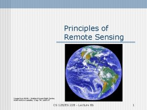 Principles of Remote Sensing Image from NASA Goddard