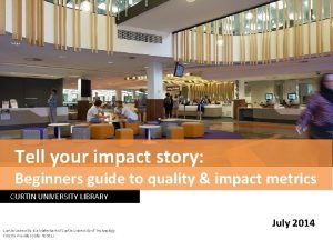 Tell your impact story Beginners guide to quality