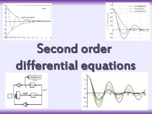 Second order differential equations Introduction Second order differential