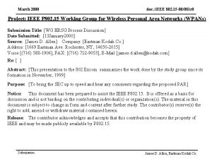 March 2000 doc IEEE 802 15 00081 r