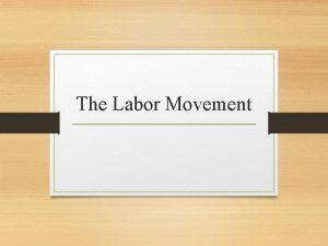 The Labor Movement Standard SS 912 A 3