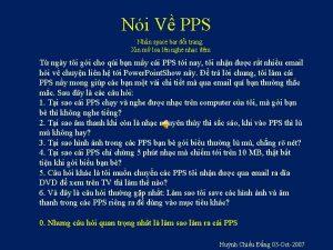 Ni V PPS Nhn space bar i trang