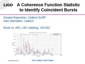 A Coherence Function Statistic to Identify Coincident Bursts