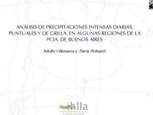 ANLISIS DE PRECIPITACIONES INTENSAS DIARIAS PUNTUALES Y DE