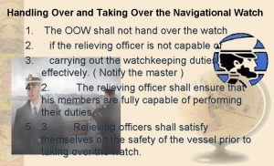 Handling Over and Taking Over the Navigational Watch