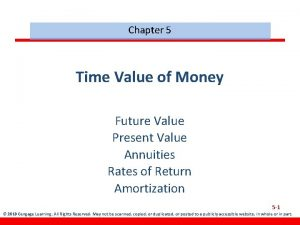 Chapter 5 Time Value of Money Future Value