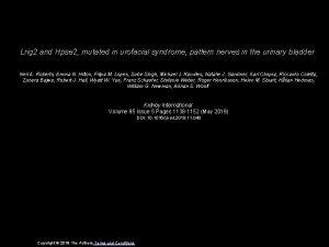 Lrig 2 and Hpse 2 mutated in urofacial
