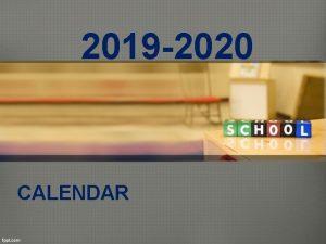 2019 2020 CALENDAR NEISD Belief The district calendar