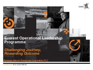 Everest Operational Leadership Programme Challenging Journey Rewarding Outcome