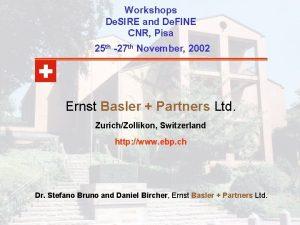 Workshops De SIRE and De FINE CNR Pisa