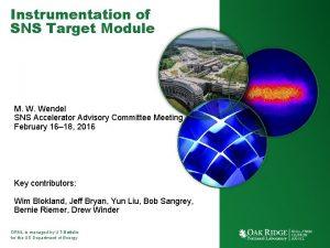 Instrumentation of SNS Target Module M W Wendel