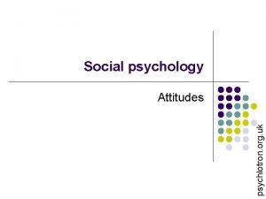Social psychology psychlotron org uk Attitudes psychlotron org