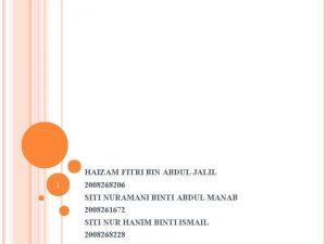 HAIZAM FITRI BIN ABDUL JALIL 1 2008268206 SITI
